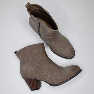 Torrid | NWT Wide With Taupe Heeled Booties 10